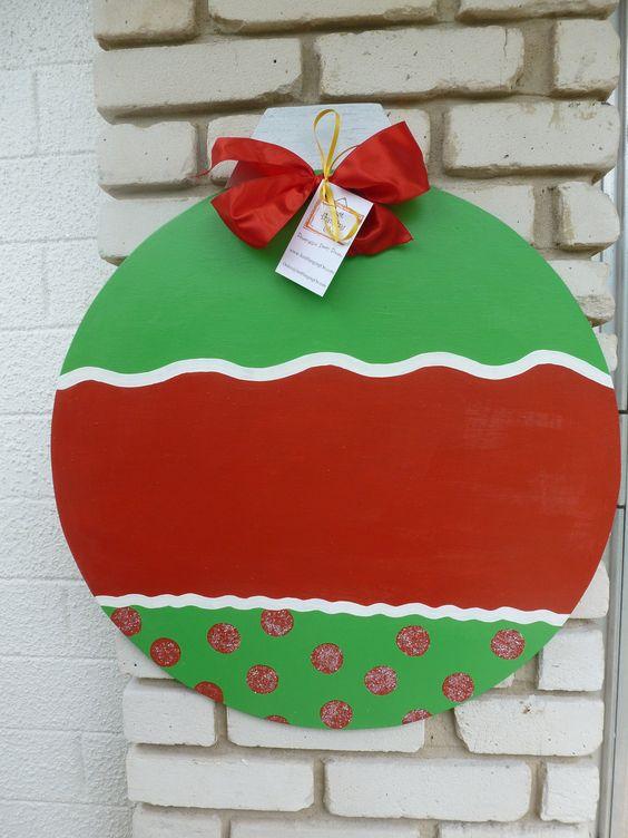 Christmas Ornament Wooden Door Hanger.....super saturday