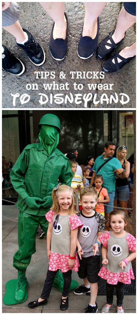 Tips and tricks on what to wear to Disneyland! See it on { lilluna.com }