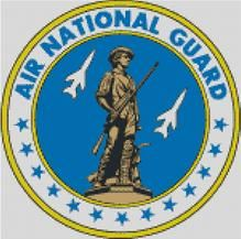 Cross Stitch Chart Pattern of the US Air National Guard