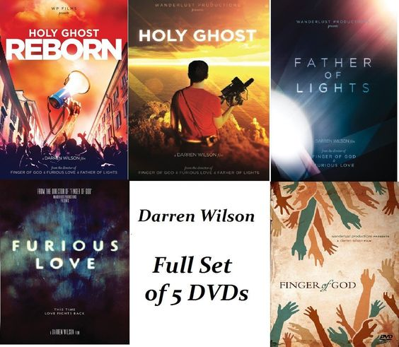 SET OF 5 DVDs - Finger of God, Furious Love, Father of Light, Holy Ghost and Holy Ghost Reborn