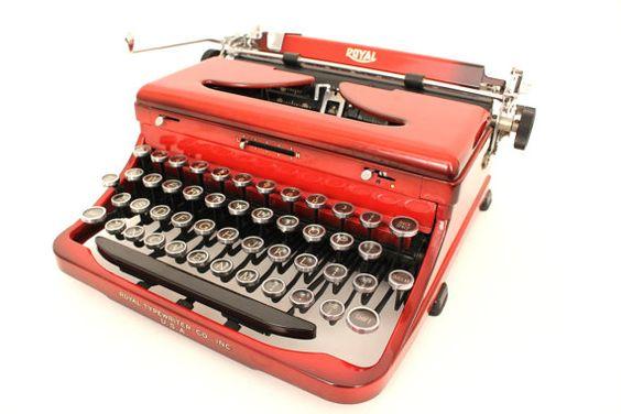 Very Rare Vintage Red Royal O Manual Typewriter by ZenTypewriters