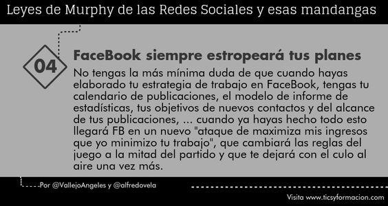 Leyes de Murphy de las Redes Sociales (04): FaceBook siempre estropeará tus planes #citas #socialmedia