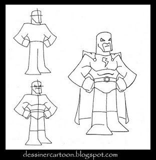 Dessiner cartoon comment dessiner un super h ros cartoon - Dessiner un super heros facile ...