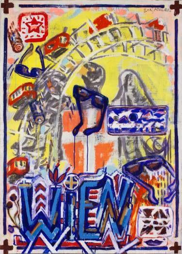 "Saatchi Art Artist Borai Kahne Ateliers; Painting, ""European Capital Cities - Wien"" #art"