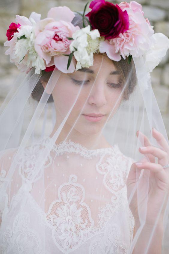 Flores en el pelo para la novia - The Craftcake Mama:
