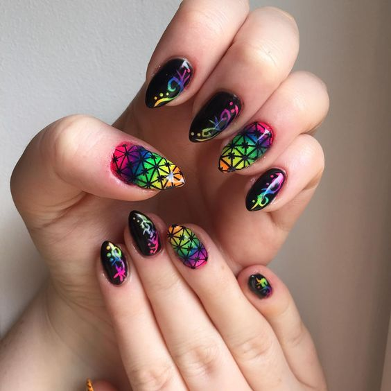 Colorful nail art @allthatjazzuk @charlijepson @love_lilley_nails