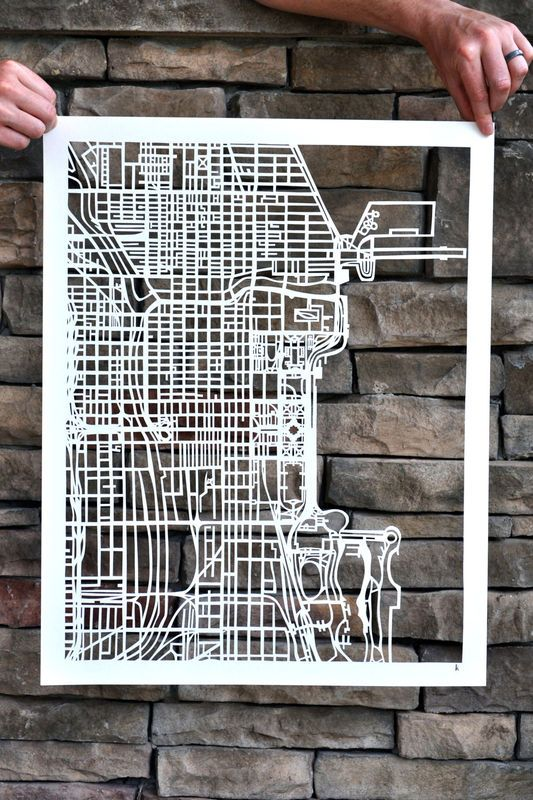 Actualité / Karen M O'Leary découpe les villes / étapes: design & culture visuelle