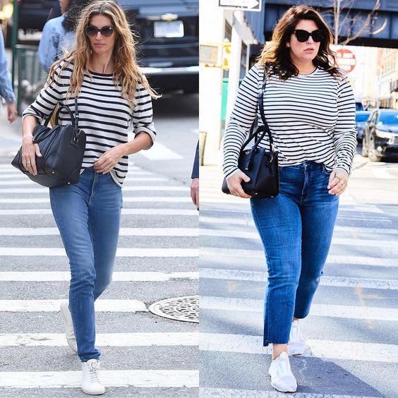 Em dias de preguiça fashion, tricots listrados em P&B e um bom jeans são ótimas opções.