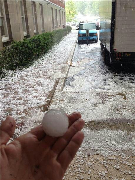 Hail storm in Philly..5-22-14