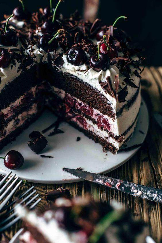 Authentic Black Forest Cake Recipe - Schwarzwälder Kirschtorte