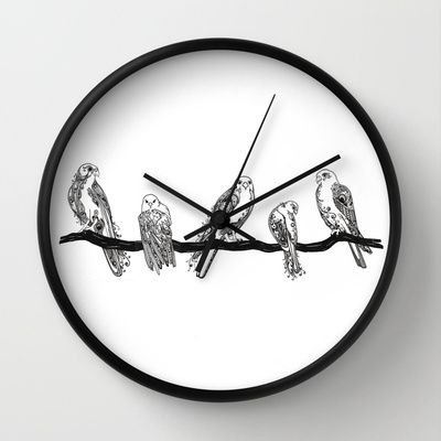 Birds. Wall Clock by Tayler Willcox - $30.00
