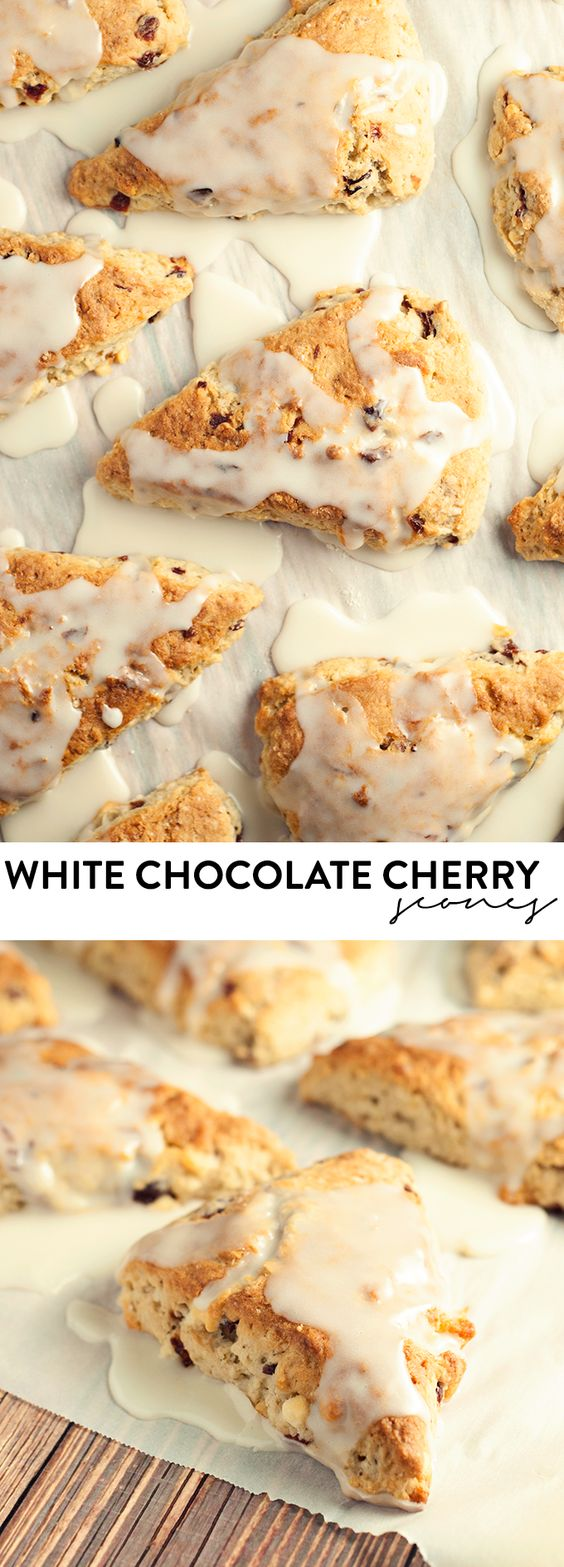 ... amazingly simple white chocolate cherry scones! asimplepantry.com