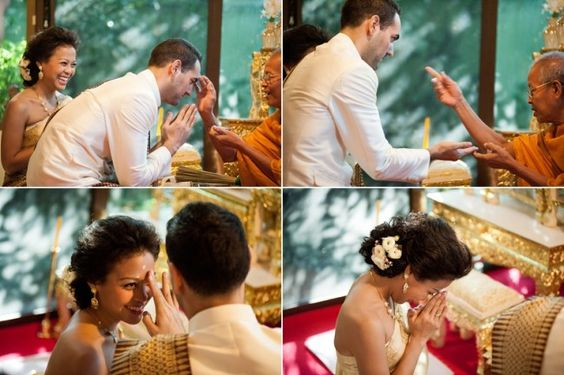 Cérémonie de mariage bouddhiste à Bangkok {Trina & Loïc}