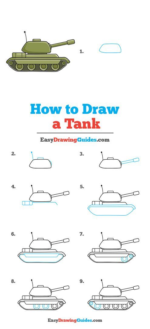How To Draw A Tank Easy :