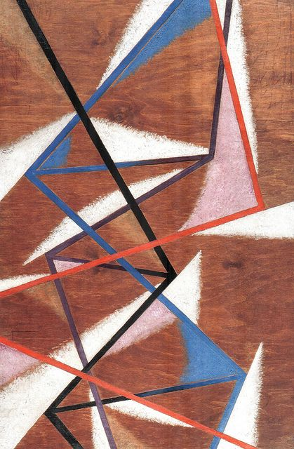 Lyubov Popova - Composition with the spatial forces  (1921)