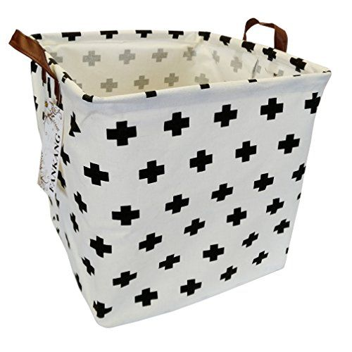 Fankang Square Storage Bins 13 Inch Well Standing Toy Chest Baskets With Waterproof Coating Laundry Hamper For Clothes Baby Nursery Kids Rooms Toy Box Cross S Izobrazheniyami