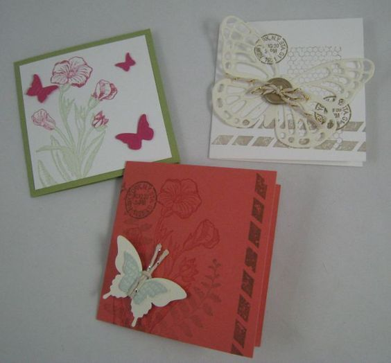 Butterfly Basics 3x3 cards- Stampin' Up by Miechelle Weber