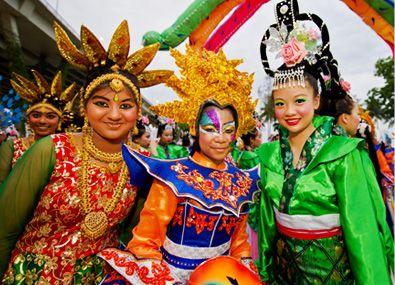 Chingay Parade có sự tham gia của rất nhiều nền văn hóa