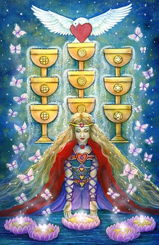 Free Daily Tarotscope — Dec 28, 2015 — Nine of Cups -- Mercury trines the North Node today and sextiles the South Node. This transit is all about making meaningful connections — with the people that you love as well as with yourself. (more)...