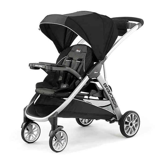 Chicco® BravoFor2™ Double Stroller in Iron | buybuy BABY