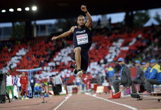 Le Français Benjamin Compaoré, champion d'Europe du triple saut engagé dans le Décastar de Talence, le rendez-vous majeur du décathlon en France,a ...