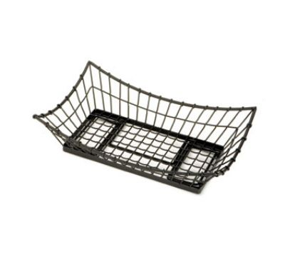 "Tablecraft GMT2113 Rectangular Transformer Collection Basket, 21 L x 13 W x 5.5""H, Black Metal"