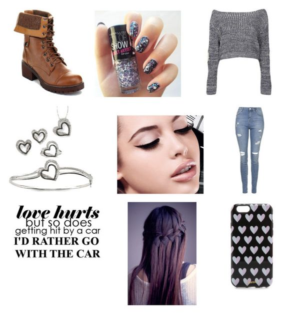 """Like if u can relate with this quote."" by yulisa-28 ❤ liked on Polyvore featuring Topshop, Boohoo, Maybelline and Sonix"