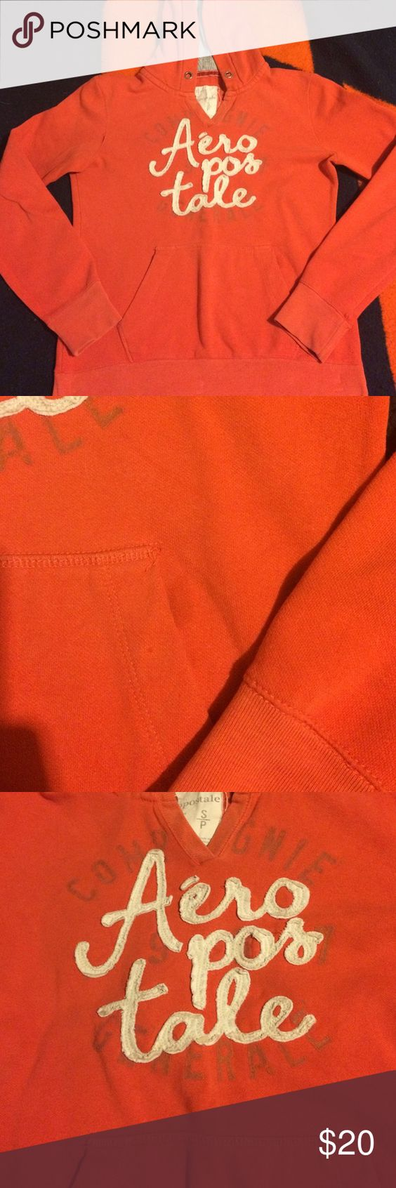 Hooded sweatshirt Hooded sweatshirt used, no drawstrings, one stain left front pocket Aeropostale Tops Sweatshirts & Hoodies