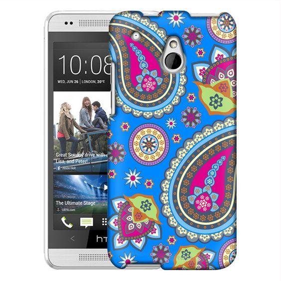 HTC One Mini Fun Paisleys on Blue Slim Case