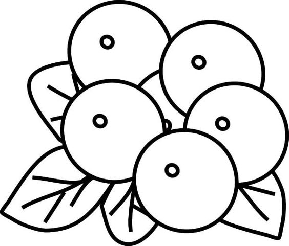 Blueberries Clip Art Black And White Image blueberry outline blueberry ...