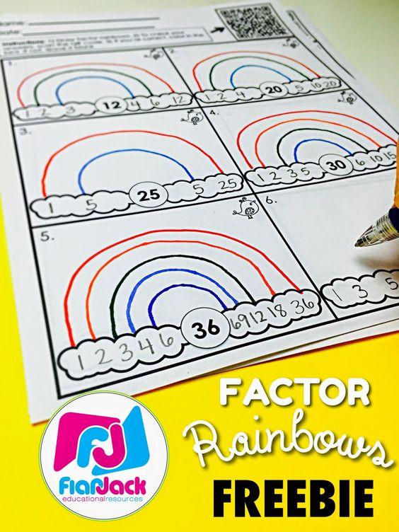 Factor Rainbows Freebie
