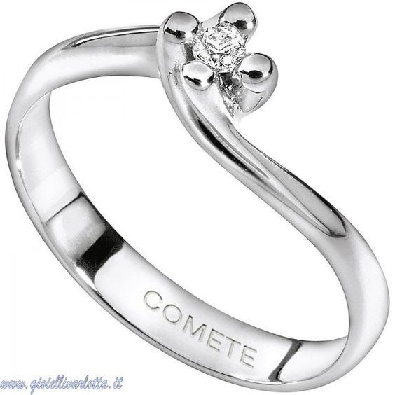 Anello Solitario in Oro Bianco con Diamante Comete Gioielli ANB 1158 http://www.gioiellivarlotta.it/product.php?id_product=292