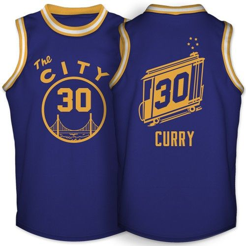 The Warriors The Town Jersey: STEPHEN CURRY GOLDEN STATE WARRIORS THE CITY JERSEY BLUE