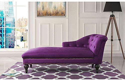Buy Chaise Lounge Indoor Chair Tufted Velvet Fabric Modern Long Lounger Office Living Room Purple Online Findtopbrandsgreat In 2020 Chaise Lounge Indoor Purple Living Room Furniture Buy Chaise Lounge