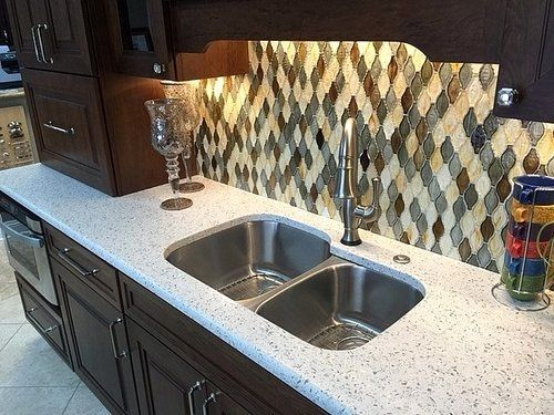 Curava Arctic Recycled Glass Kitchen Countertop With Curava Recycled Glass Countertops Glass Countertops Recycled Glass Countertops Countertops