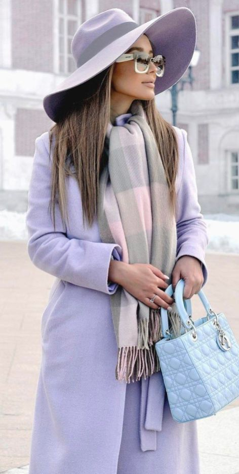 Blush Inspiration Hat Plus Scarf Plus Bag Plus Coat