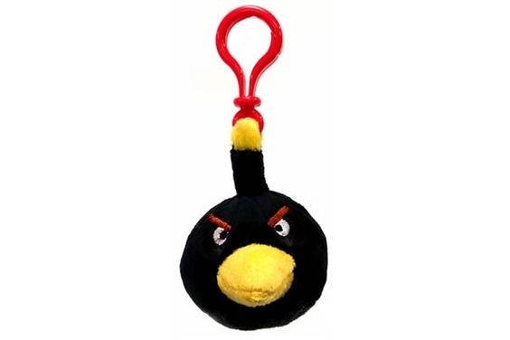 Black Bird - Angry Birds Plush Backpack Clip. $5.95