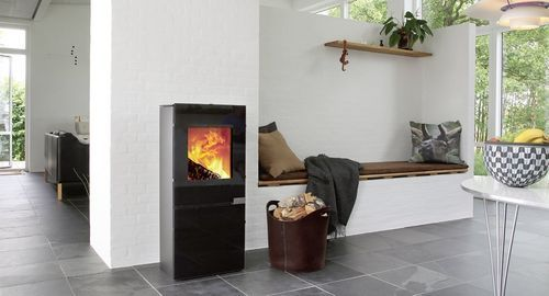 Contemporary wood-burning stove (cast iron) S12 Morsø