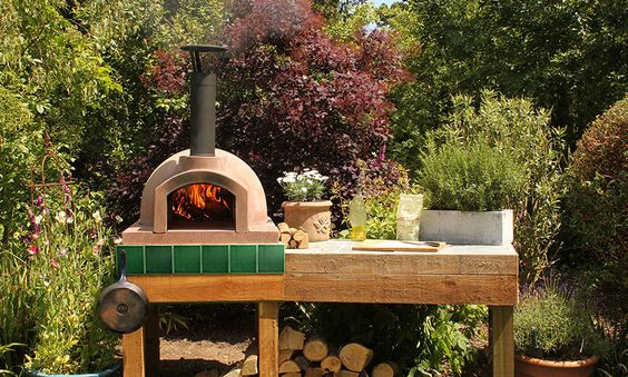 An outside oven...I saw it on Jamie Oliver the other day and thought it would work well in our patio.