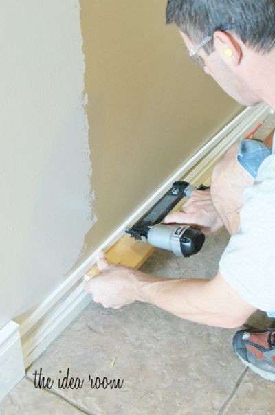 How to make baseboards appear taller with decorative moulding and paint