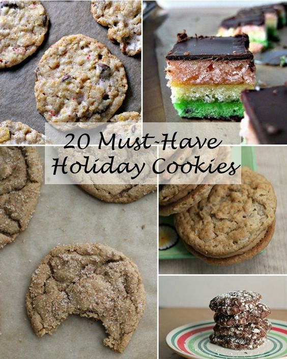 Tis the season! A list of 20 must-have holiday cookies to help you celebrate the holidays to their fullest.