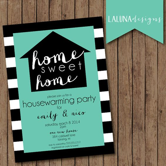 Housewarming Invitation Housewarming Party Housewarming