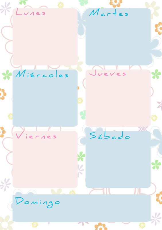 Planning Semanal  Weekly Planner                                                                                                                                                     Más