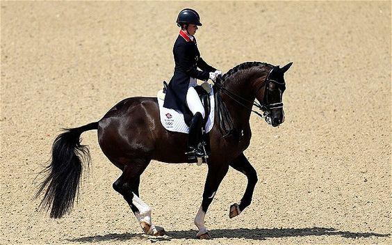 London 2012 Olympics: Charlotte Dujardin's record ride gives GB precious lead in team dressage