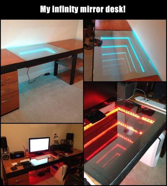 Remarkable Creative Diy Ideas Mirror Desk Diy Ideas Tips Largest Home Design Picture Inspirations Pitcheantrous