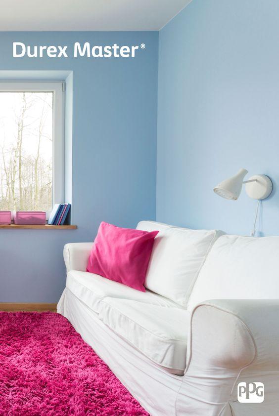 ¿Deseas estar cambiando continuamente los colores de la decoración? Durex Master es la opción económica ideal con un alto poder cubriente al secar y un acabado mate. #ProductosComex #Home #Ideas #Deco #DIY #Comex