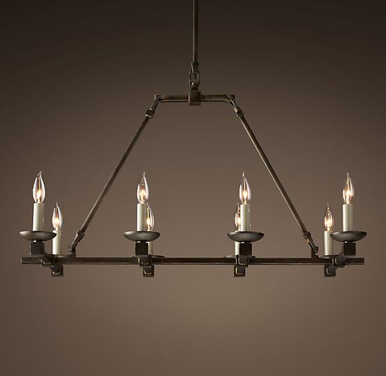 cabot 36 iron chandelier simple rustic option for lighting in the dining room caution. Black Bedroom Furniture Sets. Home Design Ideas