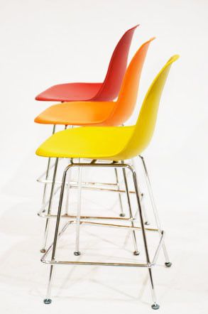 Charles ray eames reproduction counter bar stool by for Charles ray eames reproduction