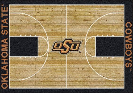 Oklahoma State Rug University Basketball Court