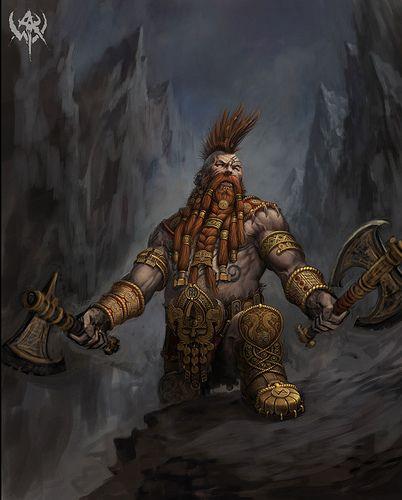 dwarf barbarian   by twen5